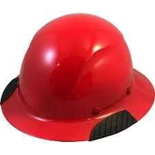 Red carbon fiber hard hat
