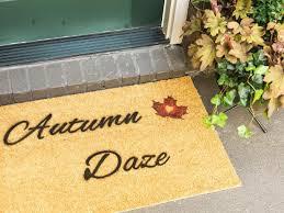 Stenciled Fall DIY Doormat