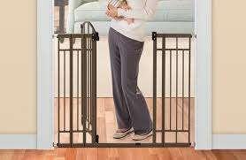 Multi-Use Decorative Extra Tall Walk-Thru Baby Gate