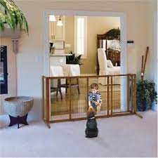 Richell Deluxe Freestanding Pet Gate with Large Door